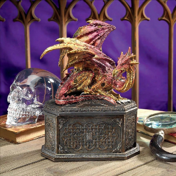 Drakein Dragon's Heart Sculptural Box