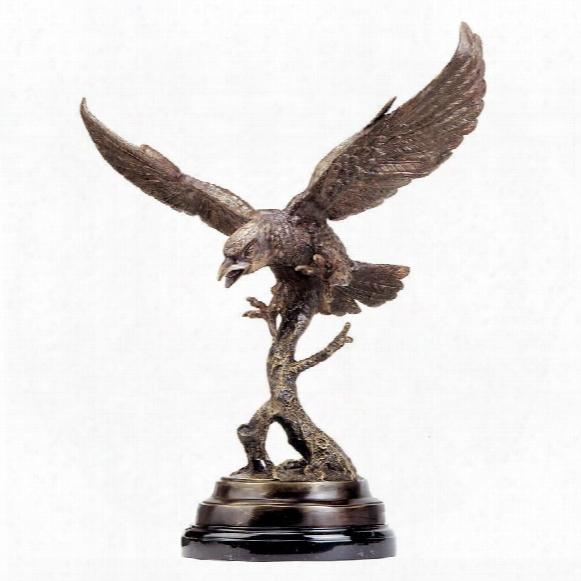 Eagle In Flight Quality Lost Wax Bronze Statue