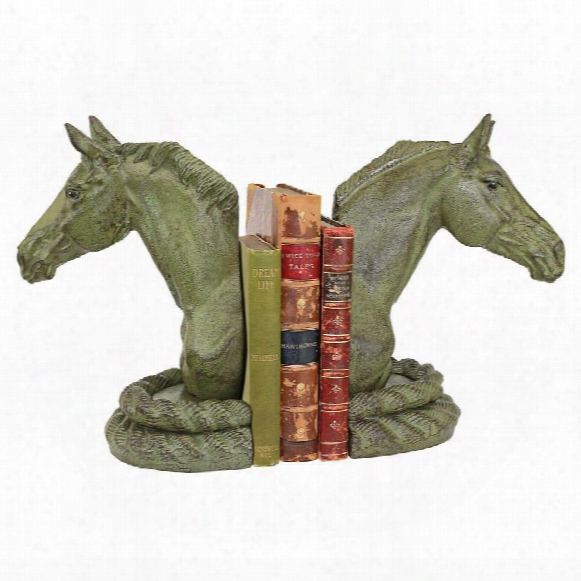 Equestrian Elegance Horse Cast Iron Sculptural Bookend Pair
