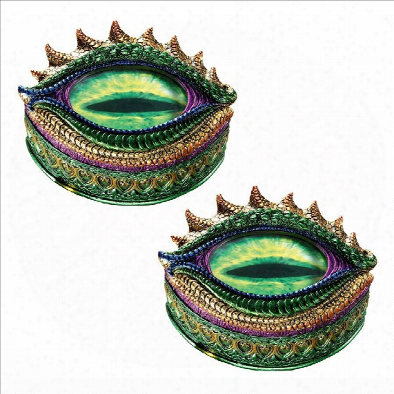 Eye Of The Evil Dragon Sculptural Box: Set Of Two