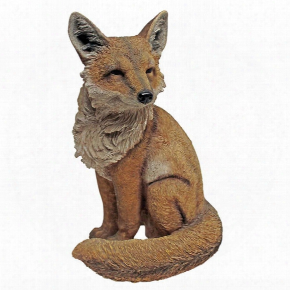 Fabian, The Flamboyant Fox Garden Statue