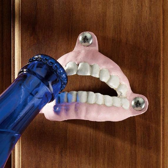 False Teeth Cast Iron Bottle Opener: Set Of Three