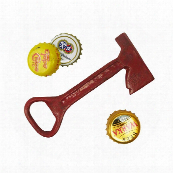 Fireman Ax Cast Iron Bottle Opener: Set Of Two