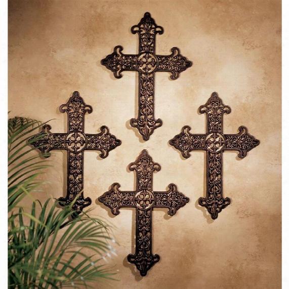 Fleur De Lis Cross: Set Of Four