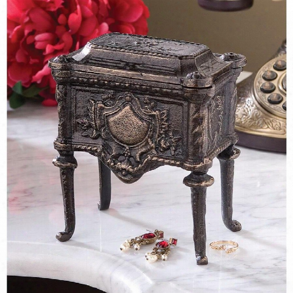 French Empire Authentic Foundry Cast Iron Box