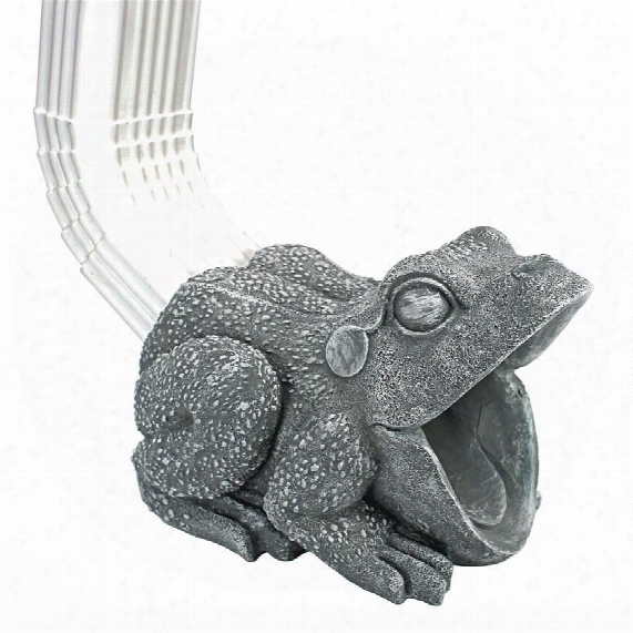 Frog Gutter Guardian Downspout Statue