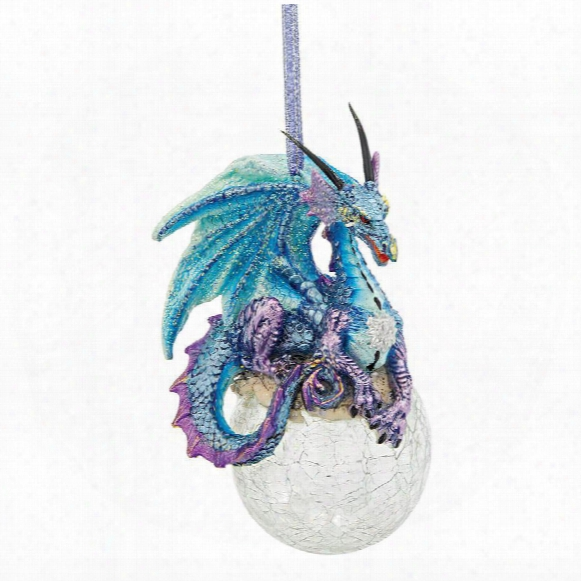"Frost, The Gothic Dragon"" 2013 Holiday Ornament: Set Of Three"