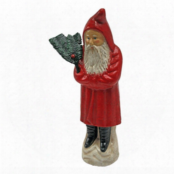 German Santa Antique Replica Die Cast Iron Still Action Coin Bank