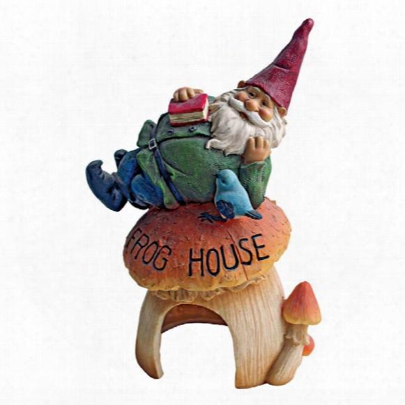 Gnkme Frog House Garden Statue