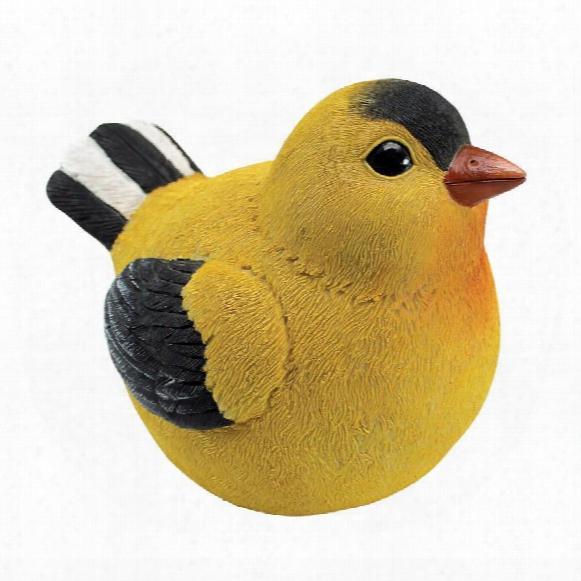 """Goldfinch Burly Bird"""" Statue"""