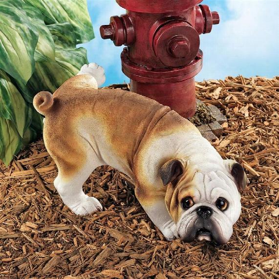 Good Dog Gone Bad Peeing English Bulldog Statue