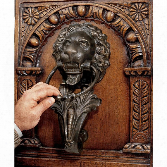 Grande Florentine Lion Authentic Foundry Iron Door Knocker