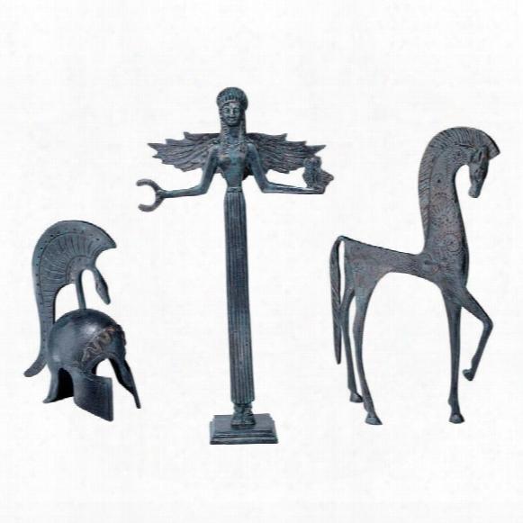 Greek Ironwork Ensemble: Set Of Three