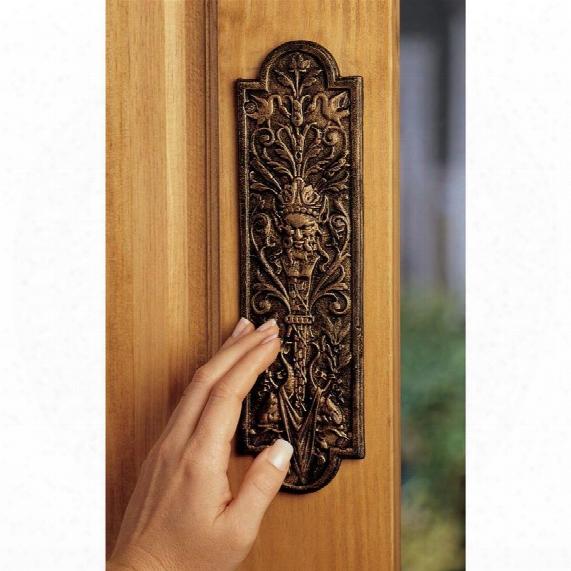Greenman Iron Door Plate