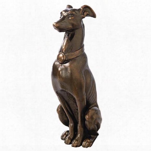 Greyhound Sentinel Cast Iron Dog Statue
