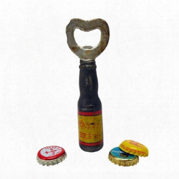 Happy Brew Cast Iron Bottle Opener