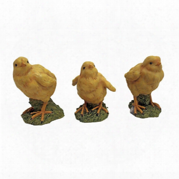 Hatching Chicks, Set Of 3 Baby Chicken Statues