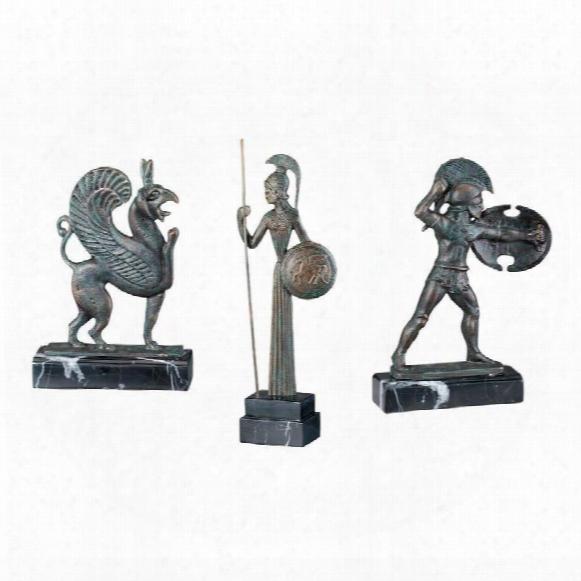 Hellenistic Ironwork Sculptures: Set Of Three