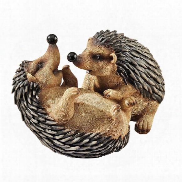 Hyper Hedgehogs Garden Statues: Set Of Two