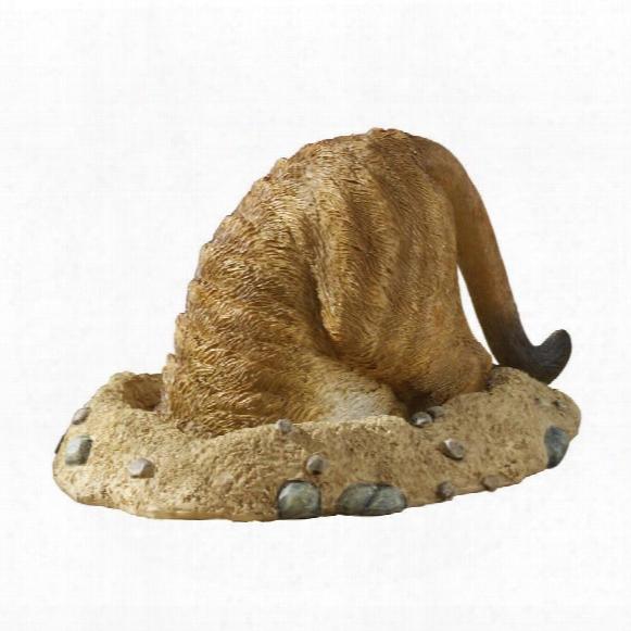 Kalahari Meerkat Statues: Into Hole