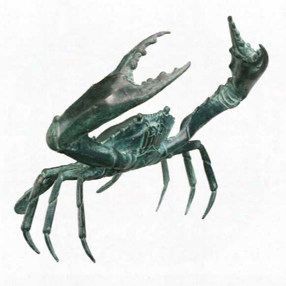 Large Bronze Crab Sculpture
