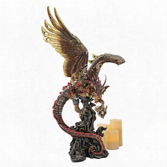 """Lash, Scourge Of The Dark"""" Large-scale Gothic Dragon Statue"""