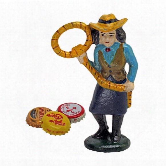 Lasso Lil The Cowgirl Cast Iron Bottle Ooener