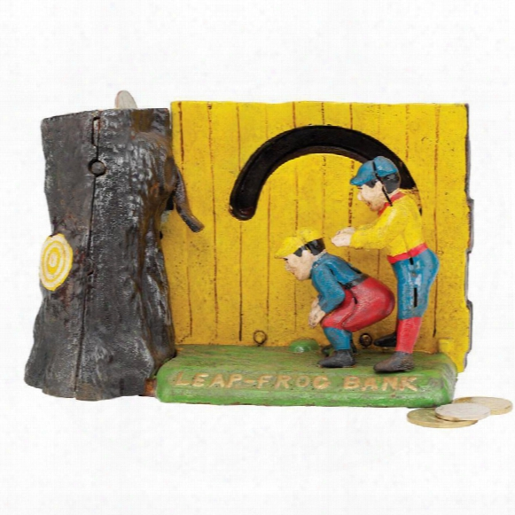 Leap Frog Collectors' Die-cast Iron Mechanical Coin Bank