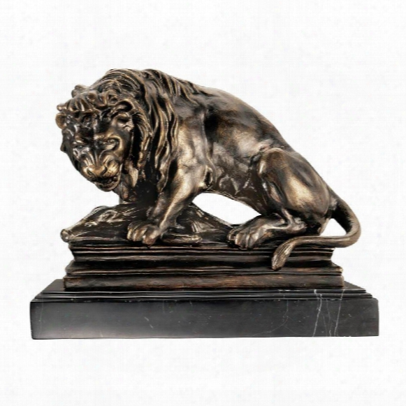 Lion On Boar Statue