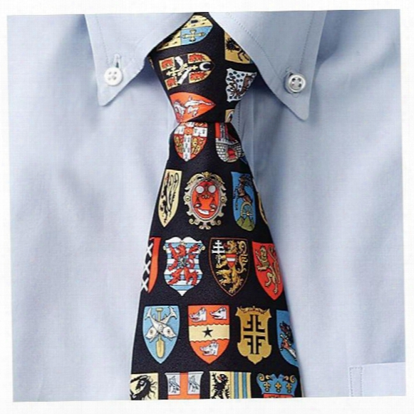Medieval Shields Silk Tie