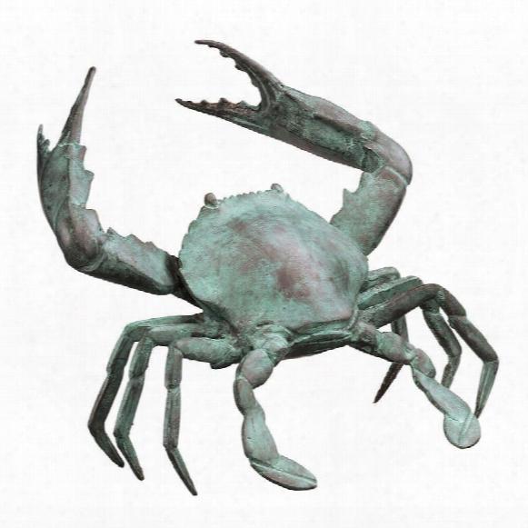 Medium Bronze Crab Sculpture