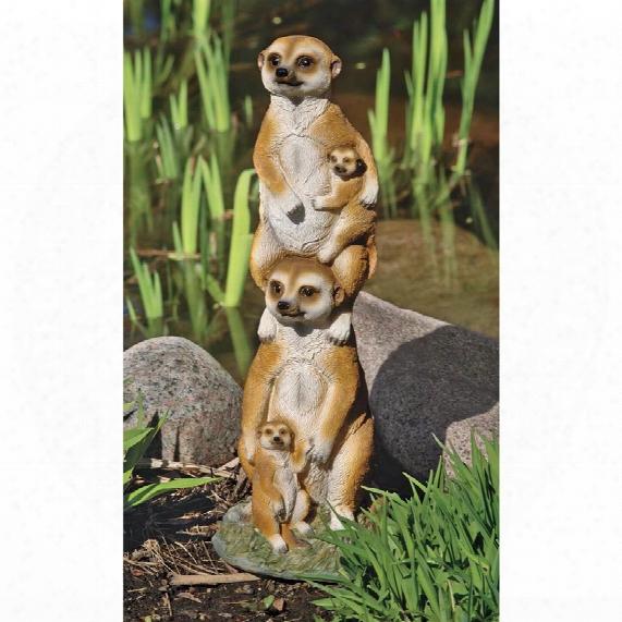 Meerkat Generations Garden Statue