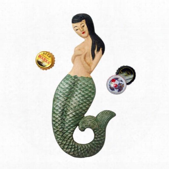 Mermaid Of Seltzer Cove Cast Iron Bottle Opener