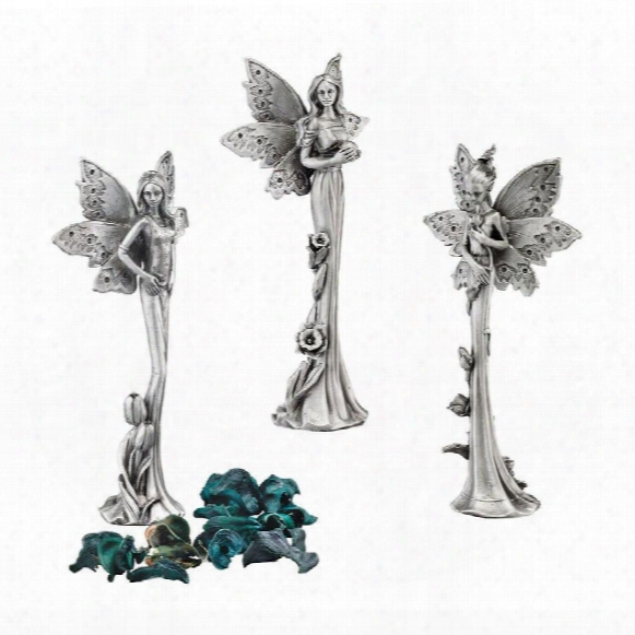 Natures Fairies Sculptural Fine Pewter Collection: Set