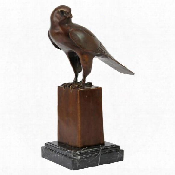 Noble Falcon Quality Lost Wax Bronze Statue