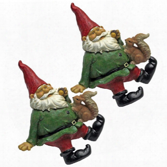 Osbert, The Garden Gnome Shelf Sitter Statues: Set Of Two