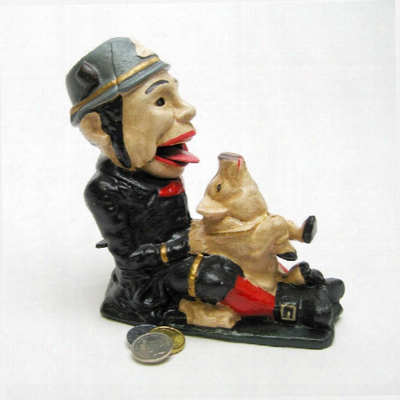 Paddy And The Pig Collectors' Die Cast Iron Mechanical Coin Bank