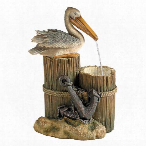 Pelican's Seashore Roost Sculptural Fountain