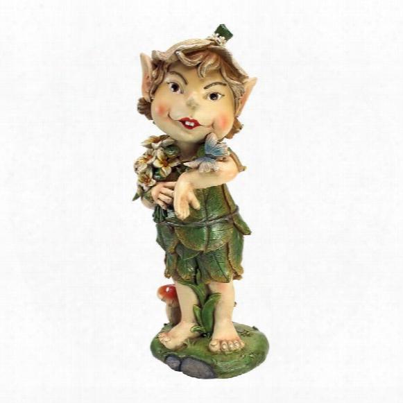 "Pixie Perry Elfin Gnome"" Garden Statue"