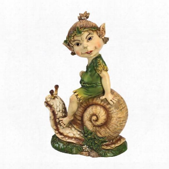 "Pixie Pete Elfin Gnome"" Garden Statue"