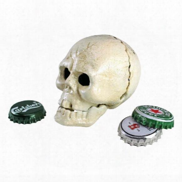 Pop Your Top Skeleton Skull Cast Iron Bottle Opener