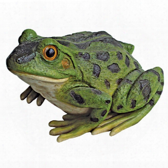 Ribbit The Frog, Garden Toad Statues: Set Of Two