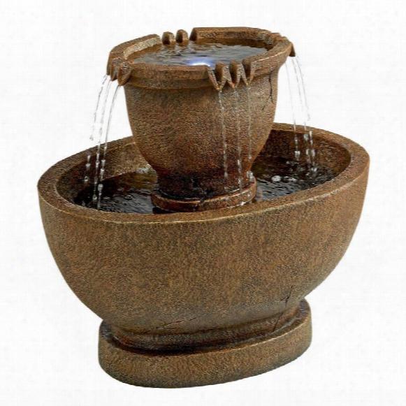 Rihardson Oval Urns Cas Cading Garden Fountain: Grande