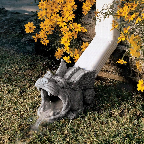 Roland The Gargoyle Gutter Guardian Downspout Statue