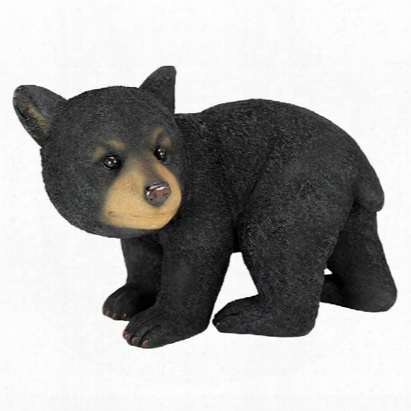 Roly-poly Bear Cub Statues: Walking Bear