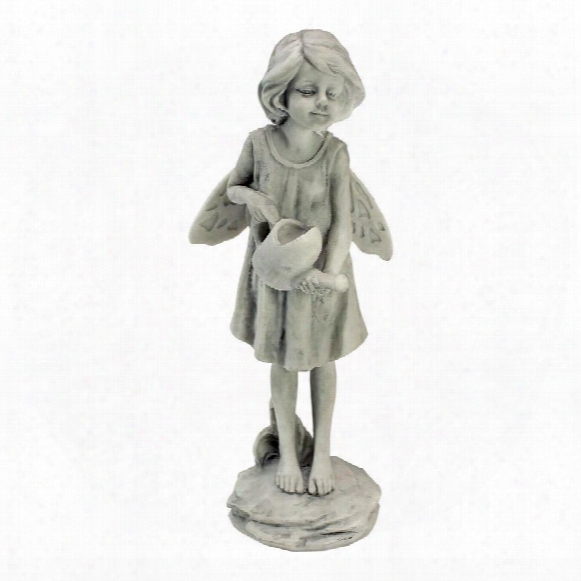 Rose Garden Fairy With Watering Can Statue
