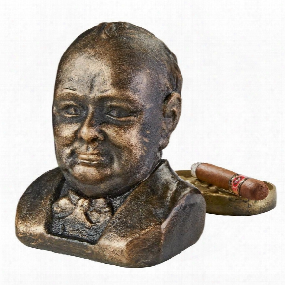 Sir Winston Churchill (1874-1965) Foundry Cast Iron Sculptural Bust