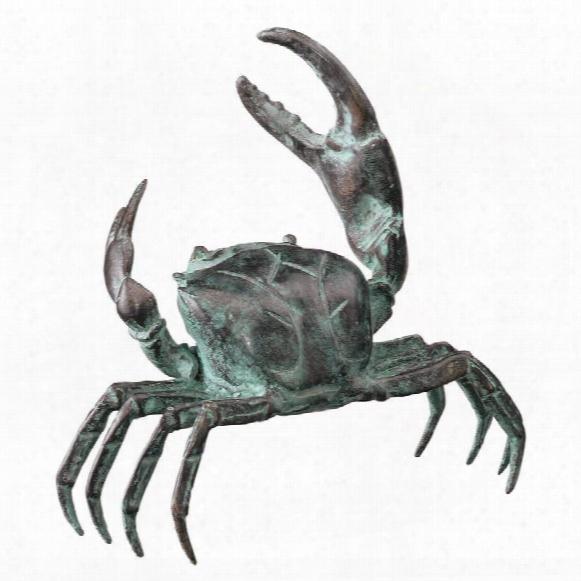 Small Bronze Crab Sculpture