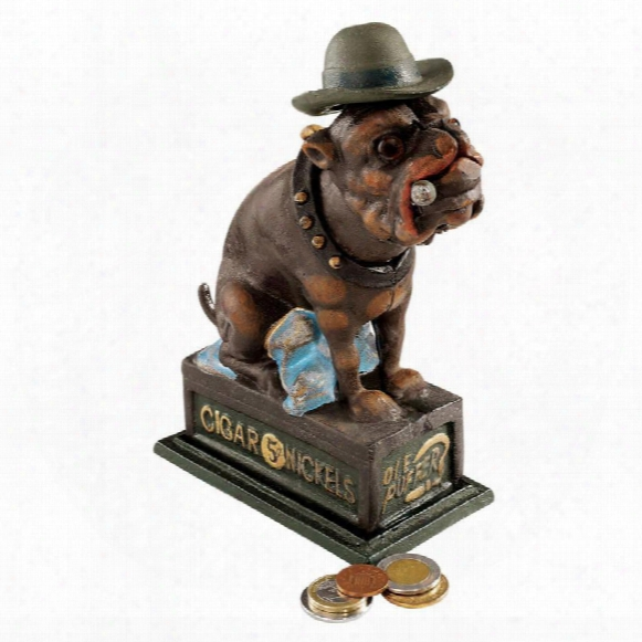 Spike, The English Bulldog Authentic Foundry Iron Bank