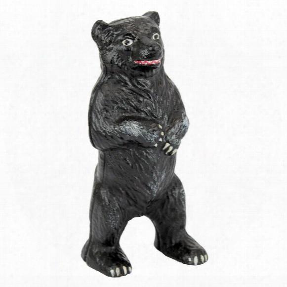Standing Black Bear Still Action Die-csat Iron Coin Bank